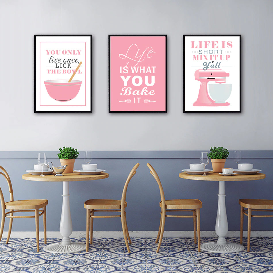 Delicieux Load Image Into Gallery Viewer, Life Is What You Bake It Kitchen Wall Art  Posters ...