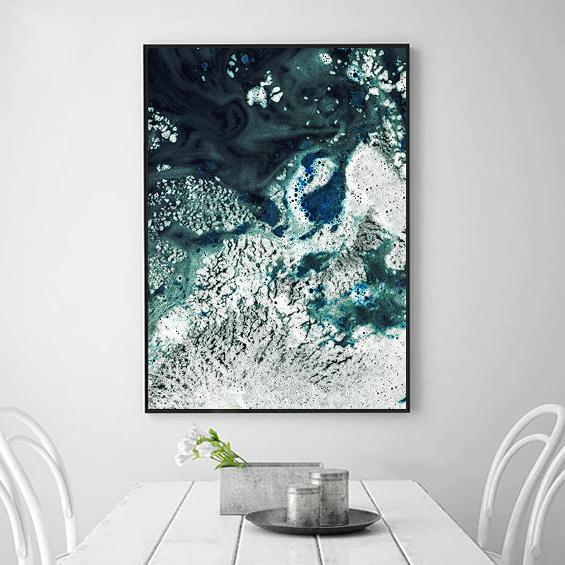 Make It Simple But Significant Inspirational Quotation Aerial Seascape Wall Art Poster Fine Art Canvas Prints Nordic Style Home Interior Wall Decor