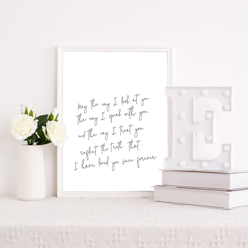 May The Way I Look At You.. Love Quote By Steve Maraboli Quotations Wall Art Minimalist Nordic Style Fine Art Canvas Prints Simple Modern Home Decoration