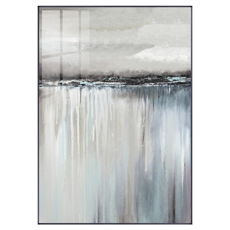 Minimalist Abstract Landscape Wall Art Shades Of Gray Reflection Fine Art Canvas Prints Nordic Style Pictures For Modern Home Interior Decoration