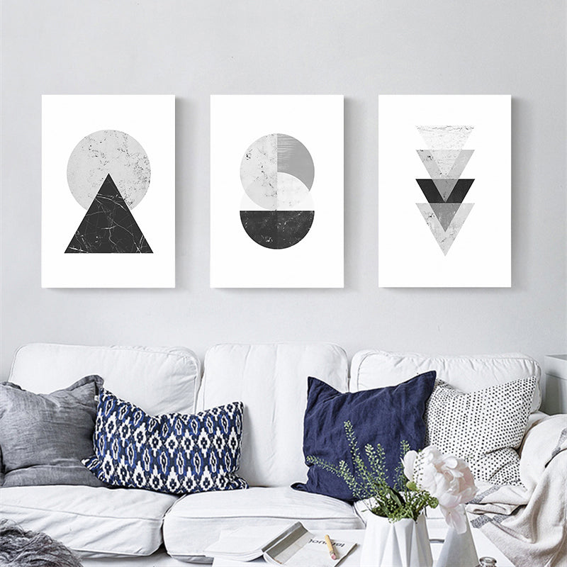 ABSTRACT VINTAGE NORDIC GEOMETRIC WALL ART MINIMALIST MARBLE DESIGN FINE ART CANVAS PRINTS POSTERS FOR LIVING ROOM BEDROOM HOME DECOR.