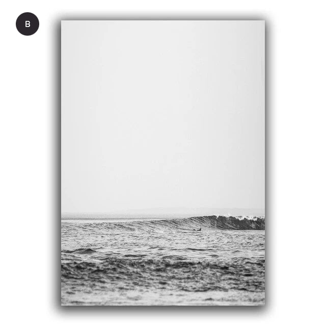 Minimalist Forest Landscape Seascape Wall Art Fine Art Canvas Prints Nordic Pictures For Living Room Dining Room Inspirational Home Office Interior Decor