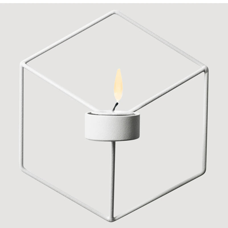 Minimalist Geometric Nordic Style Iron Candle Holders For ...