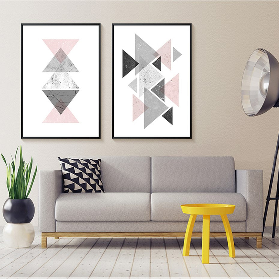 Minimalist Geometric Nordic Abstract Wall Art Canvas ...