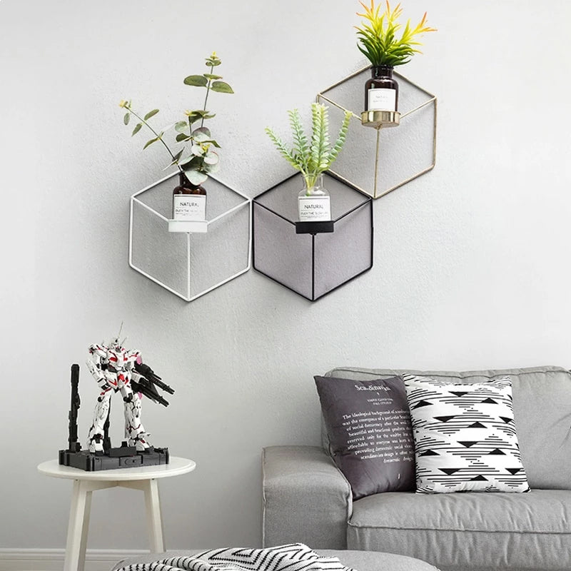 Minimalist Geometric Nordic Style Iron Candle Holders For Small Tealight Candles Simple Elegant Interior Wall Decor Scandinavian Home Styling Nordicwallart Com