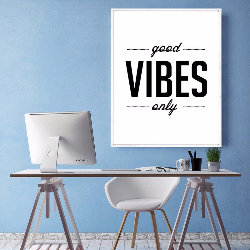 Minimalist Motivational Quotes Wall Art Black and White Positive Statements Posters Canvas Paintings For Modern Home Decoration