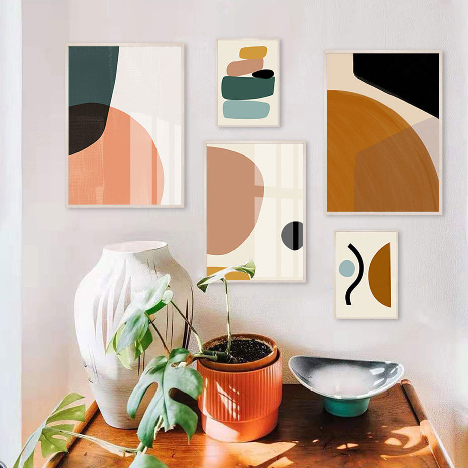 Minimalist Nordic Abstract Wall Art Fine Art Canvas Prints Modern Gallery Wall Pictures For Living Room Bedroom Scandinavian Home Interior Styling