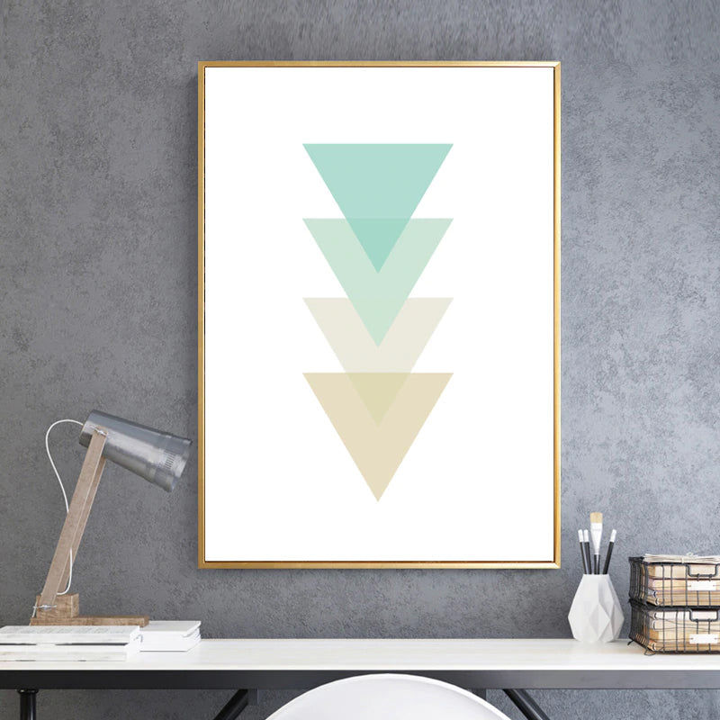 Modern Abstract Minimalist Art Poster Geometric Transforming Triangles Nordic Art Canvas Prints For Home or Office Decor