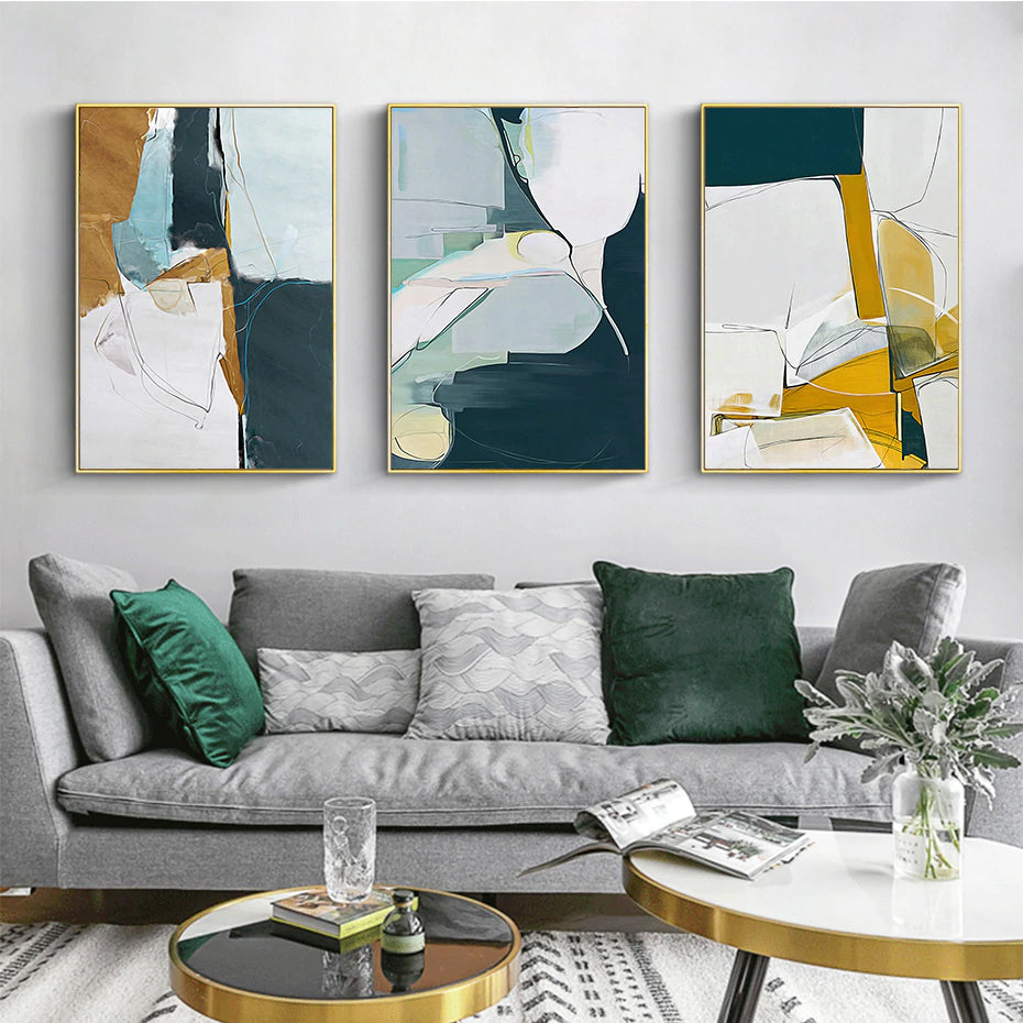 Modern Abstract Wall Art Marble Design Rustic Color Fine Art Canvas Prints Contemporary Pictures For Living Room Bedroom Modern Home Decor