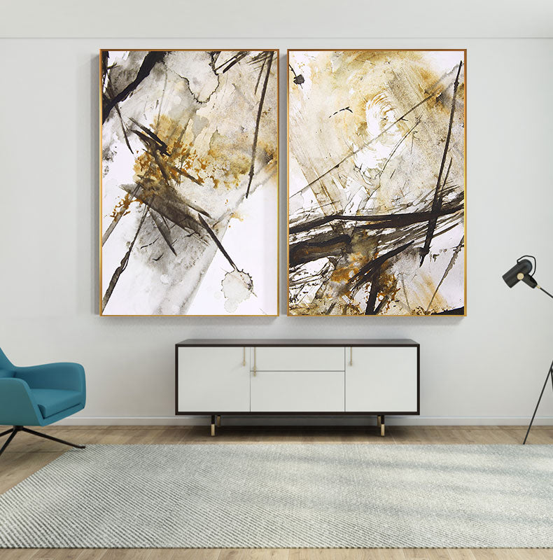 Modern Abstract Wall Art Watercolor Paint Splash Fine Art Canvas Print Contemporary Design Pictures For Living Room Bedroom Home Office Interior Decor