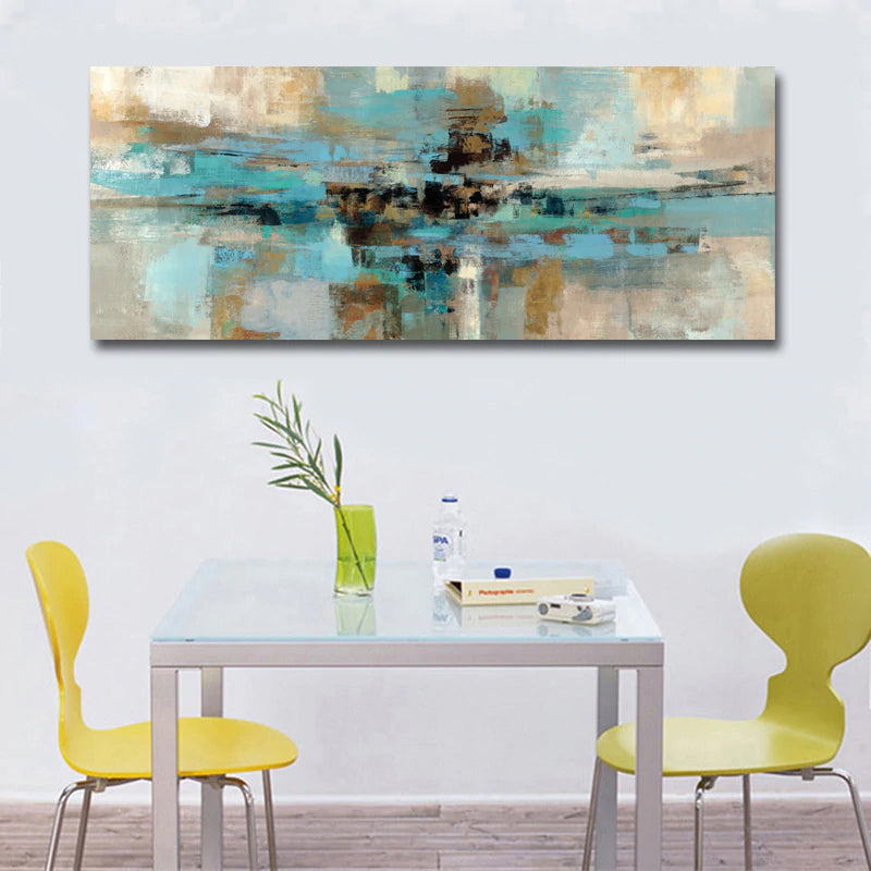 Modern Abstract Wide Format Wall Art Contemporary Fine Art Canvas Prints Subtle Color Pictures For Bedroom Living Room Home Interior Decor