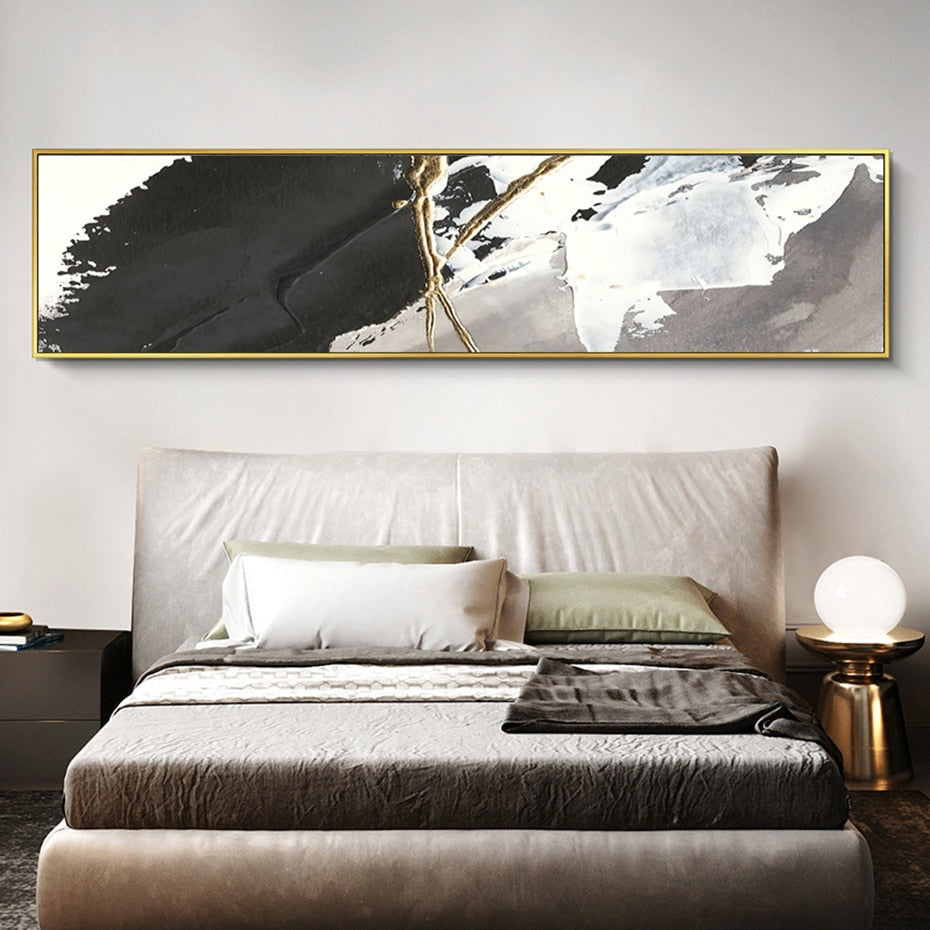 Modern Abstract Wide Format Wall Art Fine Art Canvas Print Contemporary Design Picture For Bedroom Living Room Loft Apartment Interior Styling