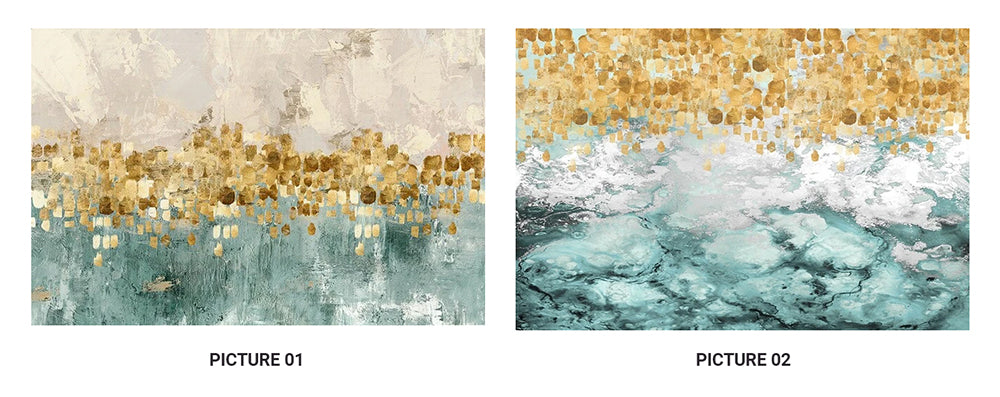 Modern Abstracts Golden Beige And Teal Luxury Wall Art Fine Art Canvas Prints Nordic Style Contemporary Wall Art For Home Office Interior Decor