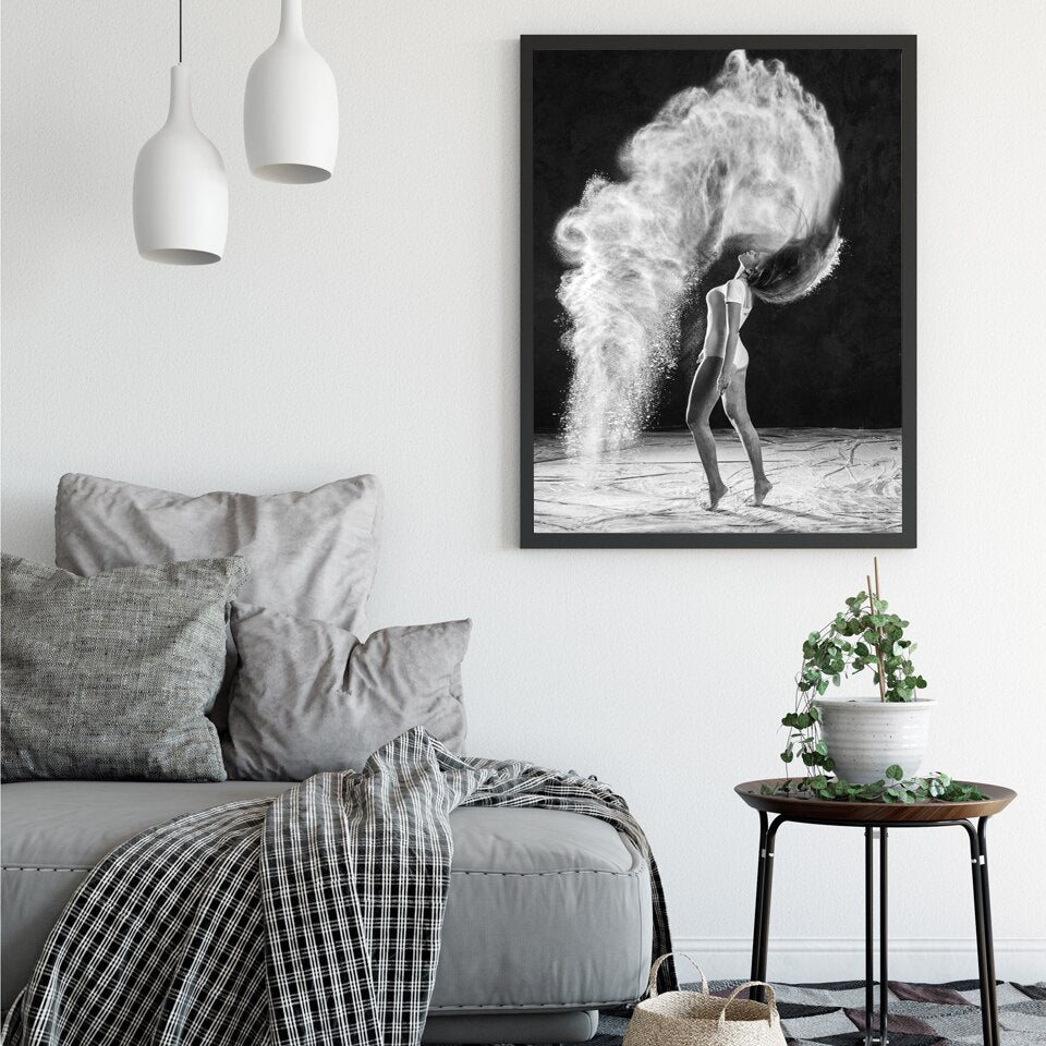 . Modern Ballet Dancer Figure In Motion Black   White Dance Wall Art Posters  Fine Art Canvas Prints Nordic Style Pictures Living Room Home Decor