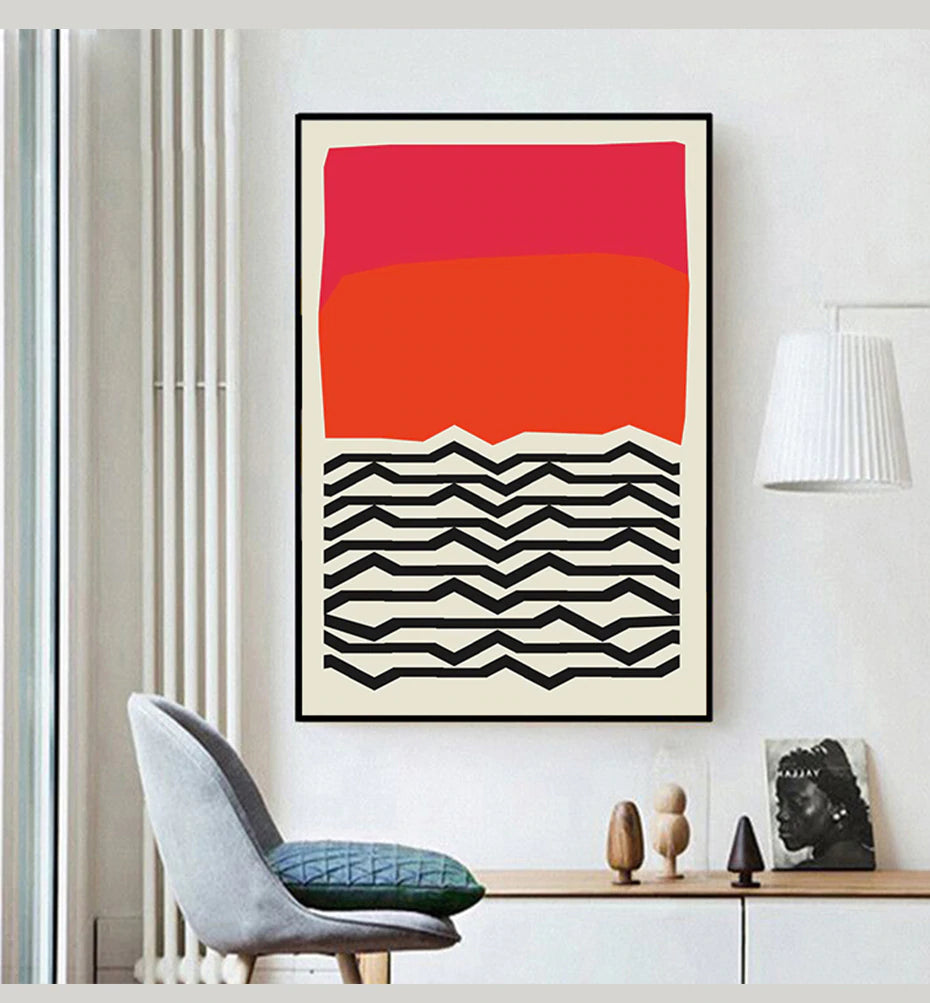 Modern Bold Abstract Wall Art Nordic Style Colorful Fine Art Canvas Prints Works Of Art For Office Living Room Modern Home Interior Decor
