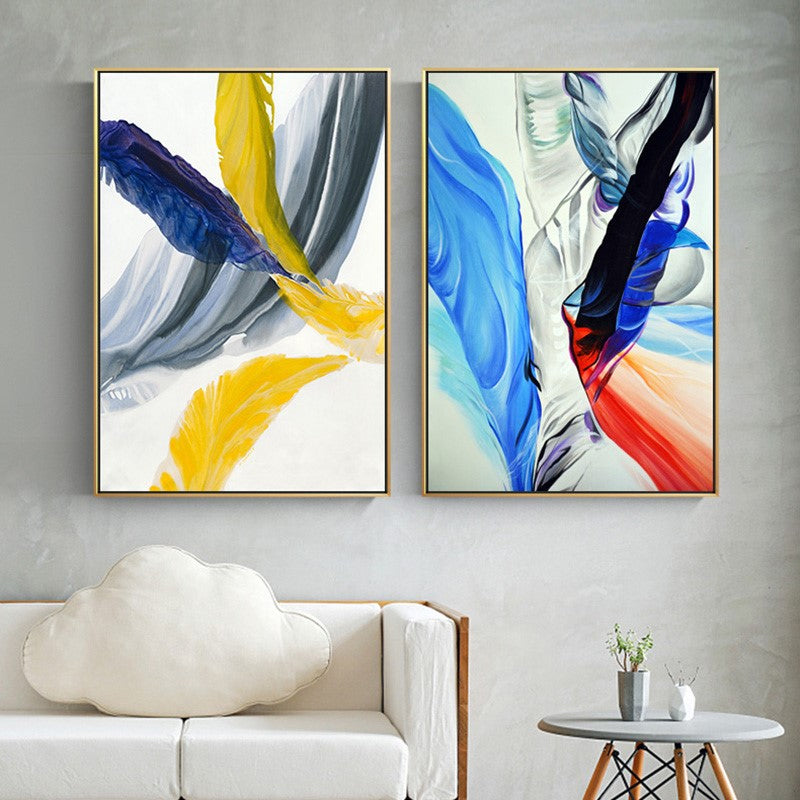 Modern Colorful Abstract Art Paintings Contemporary Fine Art Canvas Prints Posters For Offices Businesses Salons Modern Home Decor Art