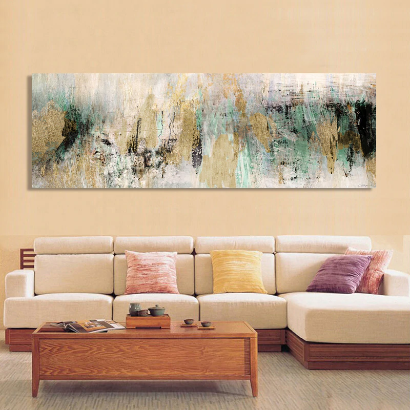 Modern Decor Wide Format Abstract Wall Art Colorful Fine Art Canvas Prints Contemporary Paintings For Bedroom Living Room Home Decor