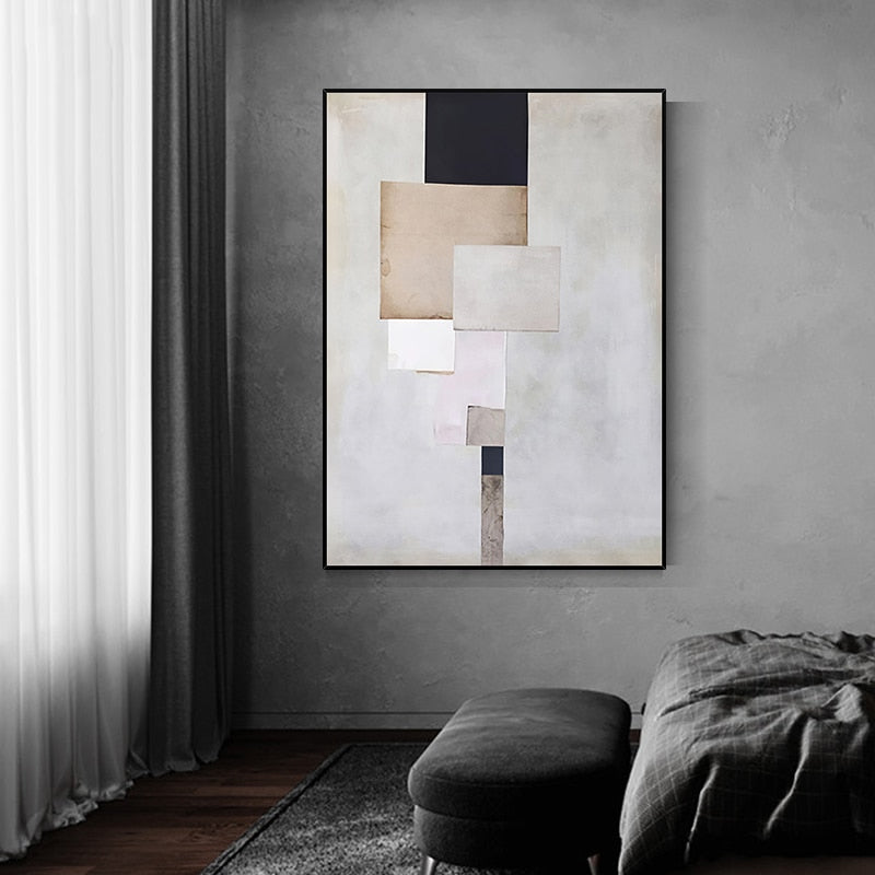 Modern Geometric Abstract Wall Art Fine Art Canvas Giclee Prints Contemporary Pictures For Living Room Bedroom Loft Apartment Home Office Interior Decor