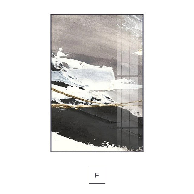 Modern Geomorphic Abstract Wall Art Neutral Colors Fine Art Canvas Print Neutral Color Pictures For Living Room Dining Room Contemporary Home Decor