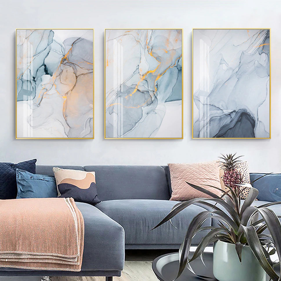 Modern Marble Print Wall Art Fine Art Canvas Prints Subtle Colors Abstract Nordic Pictures For Living Room Dining Room Scandinavian Home Interior Decor