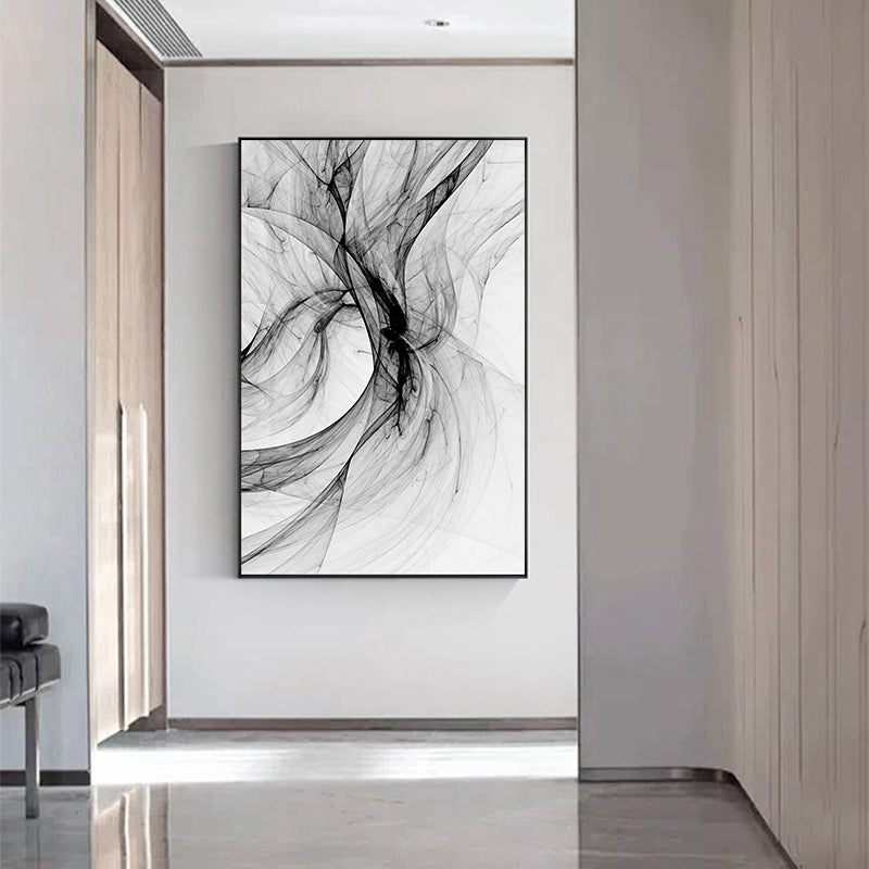 Modern Minimalist Design Black White Abstract Wall Art Fine Art Canvas Prints Pictures For Luxury Loft Living Room Nordic Home Office Interior Decor