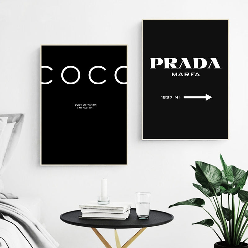 Modern Minimalist Fashion Posters Wall Art Black White Marble Effect Fine Art Canvas Prints Nordic Style Salon Pictures For Living Room Bedroom Wall Decor