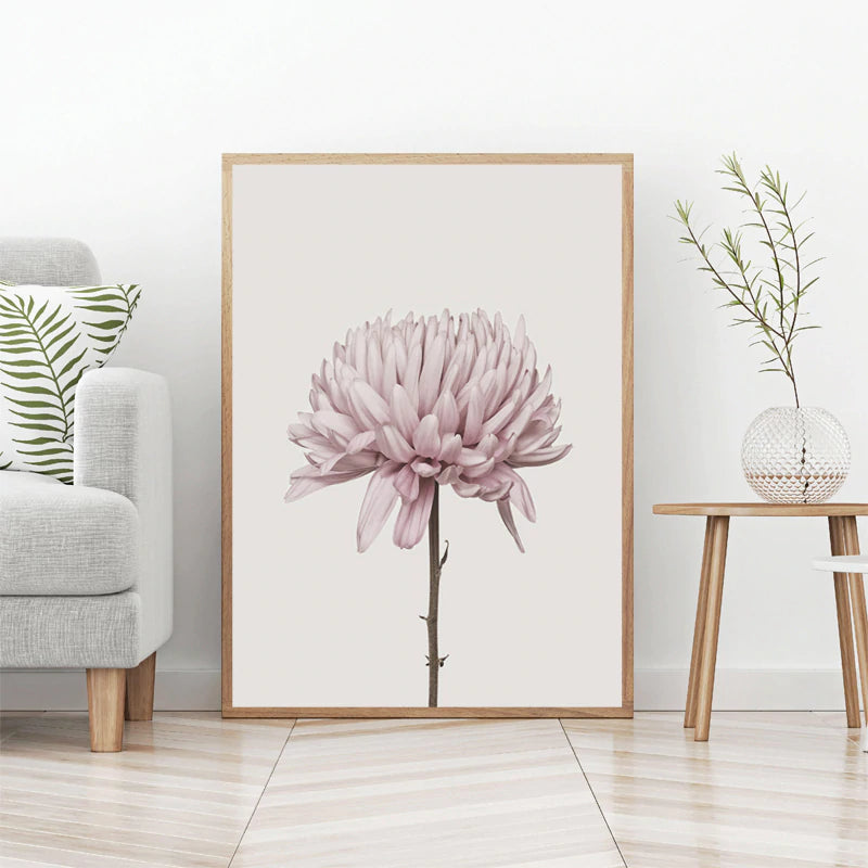 Modern Minimalist Pink Peony Floral Wall Art Fine Art Canvas Prints Nordic Pictures For Contemporary Living Room Chic Bedroom Home Decor