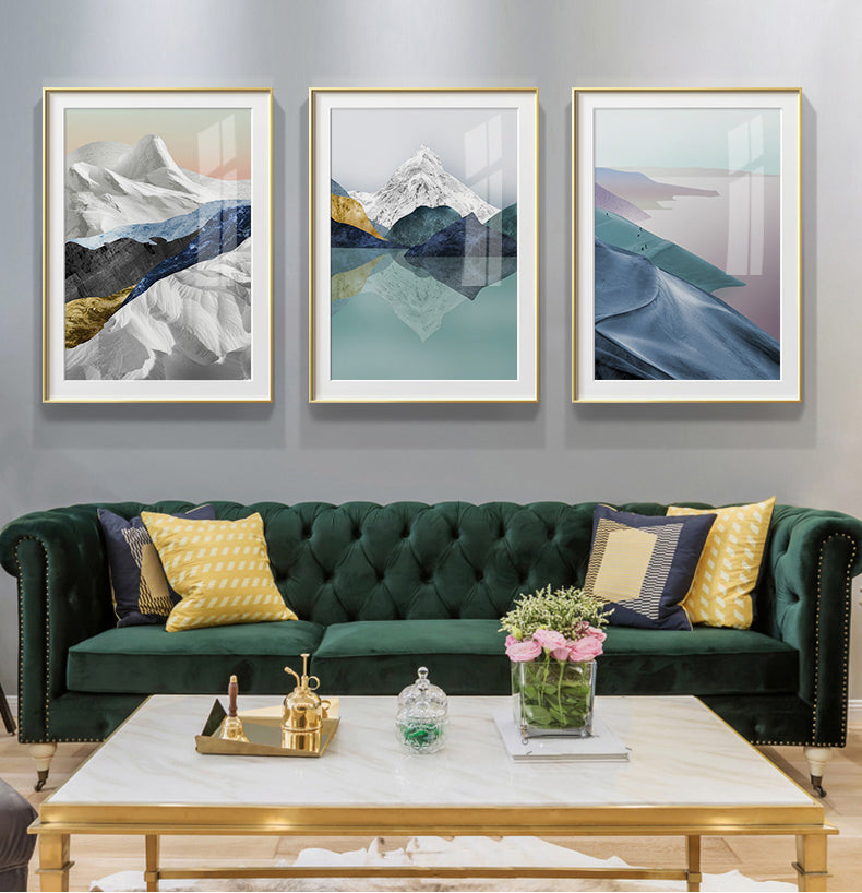 Modern Mountain Wilderness Wall Art Abstract Landscapes Fine Art Canvas Prints Luxury Nordic Style Pictures For Modern Interior Deco