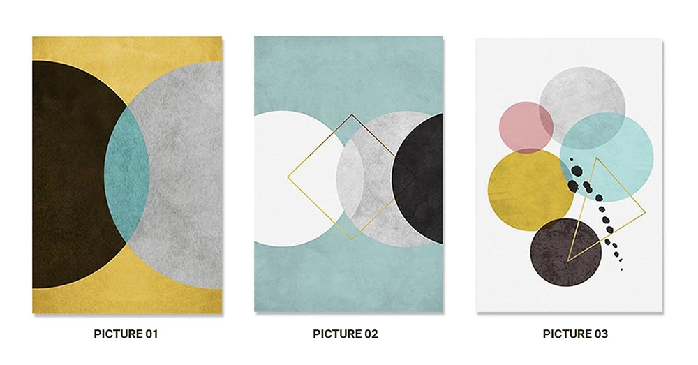 Modern Nordic Abstract Geometric Wall Art Art Fine Art Canvas Prints Minimalist Style Contemporary Pieces For Office Interior Living Room Bedroom Home Decor