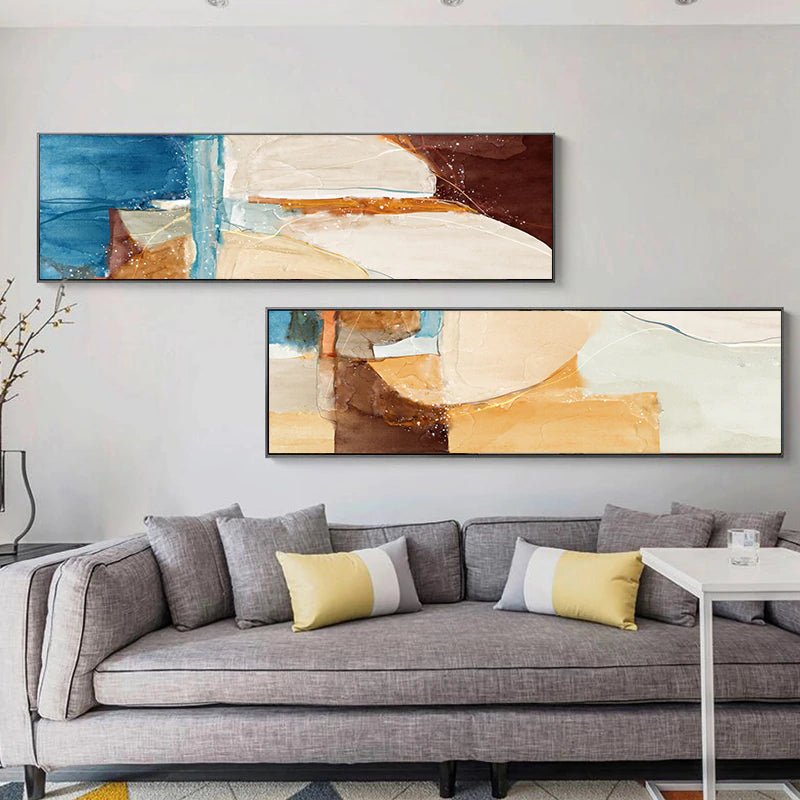 Modern Rustic Abstract Wide Format Wall Art Fine Art Canvas Prints Contemporary Pictures For Bedroom Living Room Nordic Style Home Decor