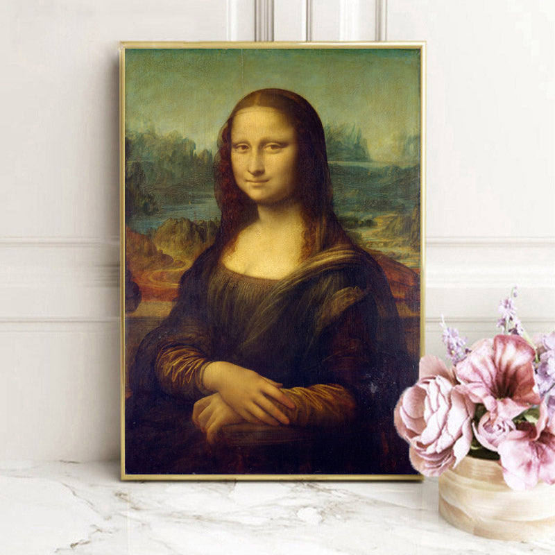 Mona Lisa Canvas Poster Fine Art Print Painting by Leonardo da Vinci Italian Renaissance Art Wall Poster Famous Painting For Modern Home Decor
