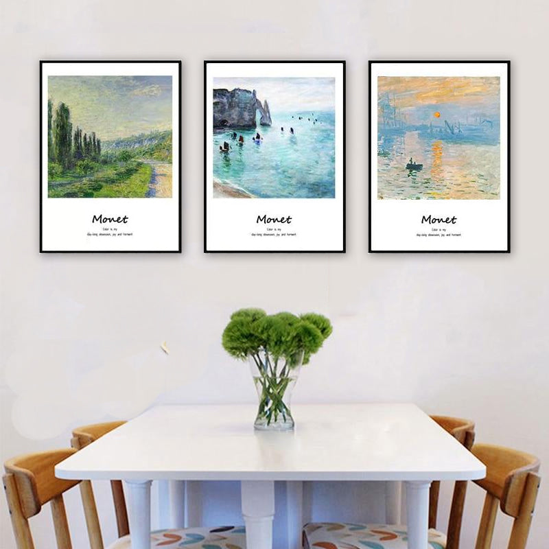 Monet Classic Paintings Famous Artists Series Fine Art Canvas Prints With Artists Own Quotes Quintessential Art For Modern Home Interior Decor