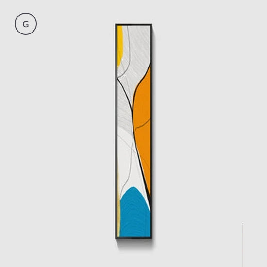 Nordic Abstract Vertical Strip Wall Art Wide Format Fine Art Canvas Prints Colorful Geomorphic Elements Modern Pictures For Loft Apartment Interior Decor