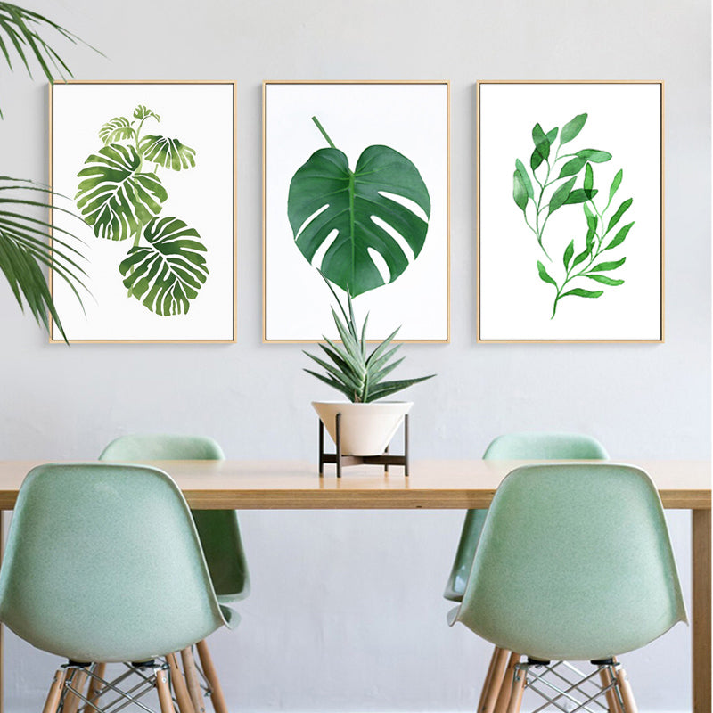 Nordic Green Leaves Natural Simple Modern Wall Art Plant ...