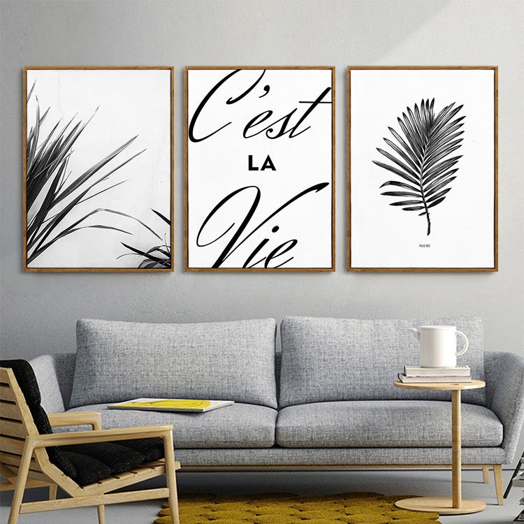 Nordic Leaves Seascape Dreams Inspirational Quotations Posters Fine Art Canvas Prints Paintings For Bathroom Living Room Modern Home Interiors