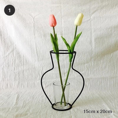 Nordic Style Minimalist Iron Vases For Tabletop Flower Arrangements And Creating Shelving Scandinavian Furnishings For Modern Home Decor