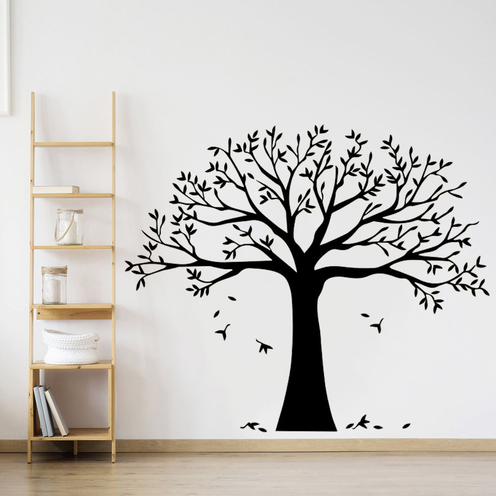 Nordic Tree Silhouette Vinyl Wall Decal Removable PVC Mural For Living Room Dining Room Kids Room Nursery Decoration Choose From Multiple Sizes And Colors