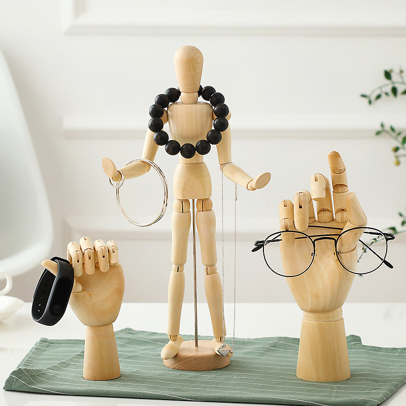 Nordic Wooden Hand Mannequins With Movable Joints Creative Tabletop Ornaments For Drawing Students Trending Scandinavian Home Furnishings