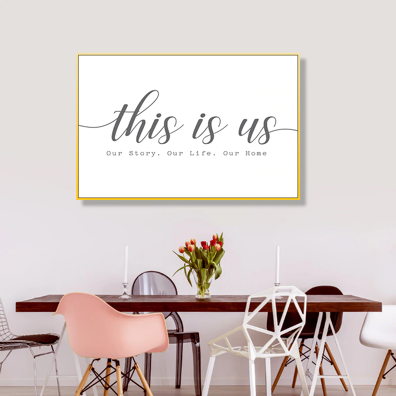 Our Home This Is Us Family Living Room Wall Art Black And White Nordic Style Minimalist Quotation Poster Fine Art Canvas Prints For Modern Home Decor