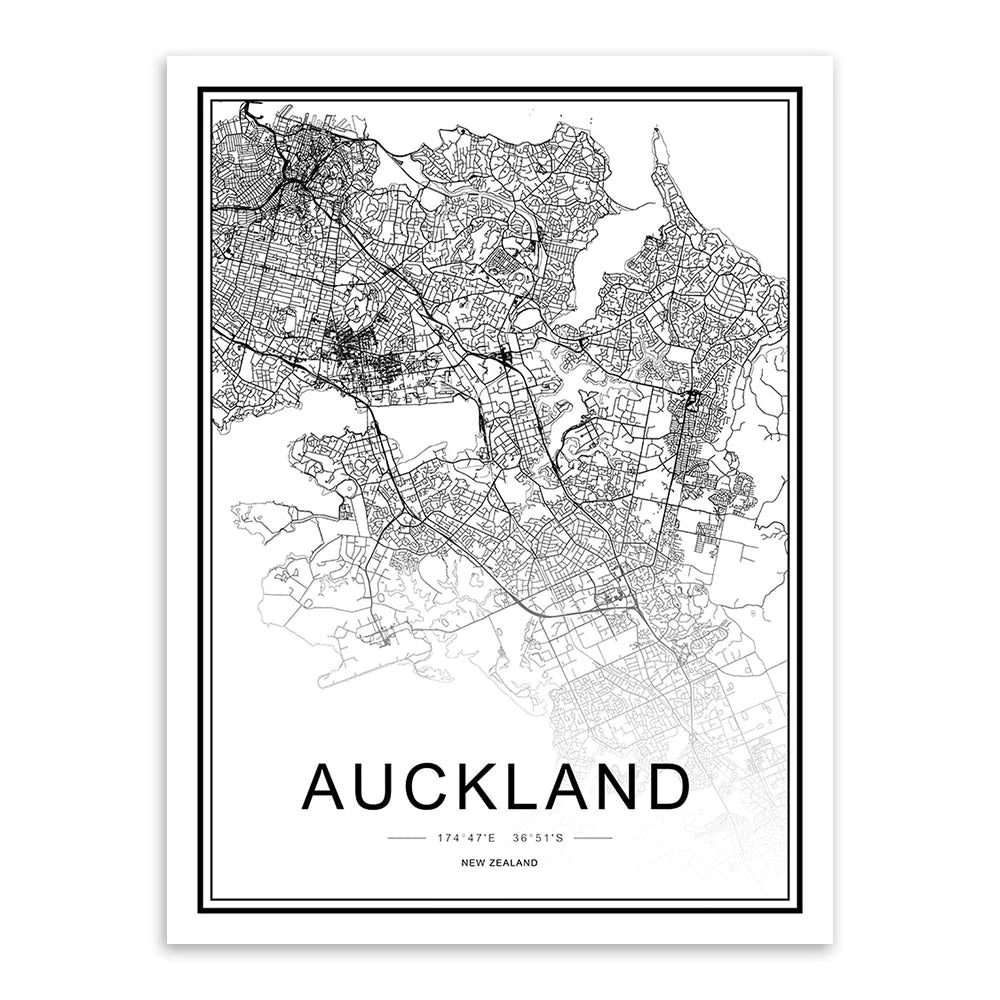 Personalized Wall Map For Your City - This High Resolution Highly Detailed Printed City Map Wall Decor Can Be Customized For Any City Or Town