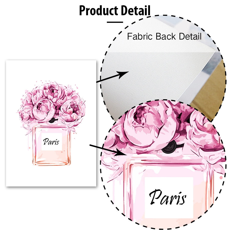 Pink Donuts High End Fashion Lifestyle Wall Art Fine Art Canvas Prints Paris Designer Quote Posters Minimalist Pictures For Modern Salon Interior Decor