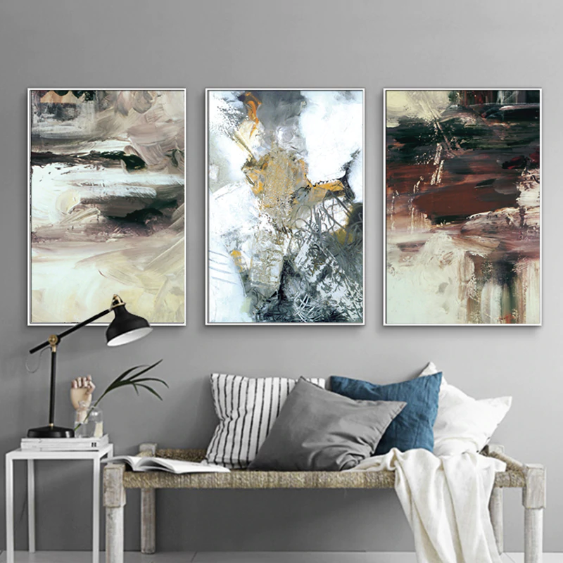 Rustic Color Splash Modern Abstract Wall Art Fine Art Canvas Prints Pictures For Office Living Room Dining Room Bedroom Home Interior Decor
