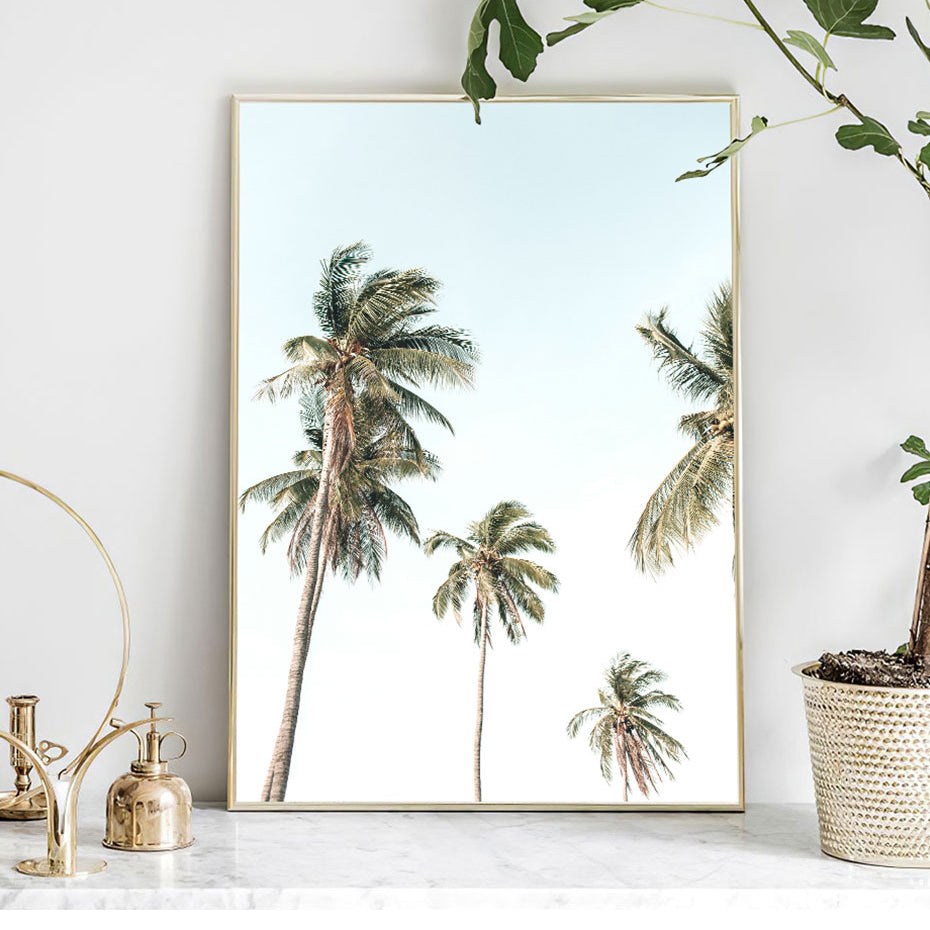 Sandcastles In The Sun Tropical Palm Beach Wall Art Fine Art Canvas Prints Holiday Dream Seascape Posters For Modern Nordic Style Home Interior Decor
