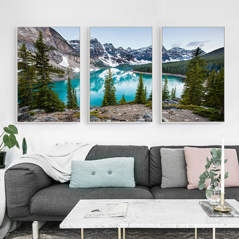 Serene Mountain Lake Forest Wilderness Wall Art Fine Art Canvas Prints Modern Landscape Pictures For Home Office Living Room Home Decor