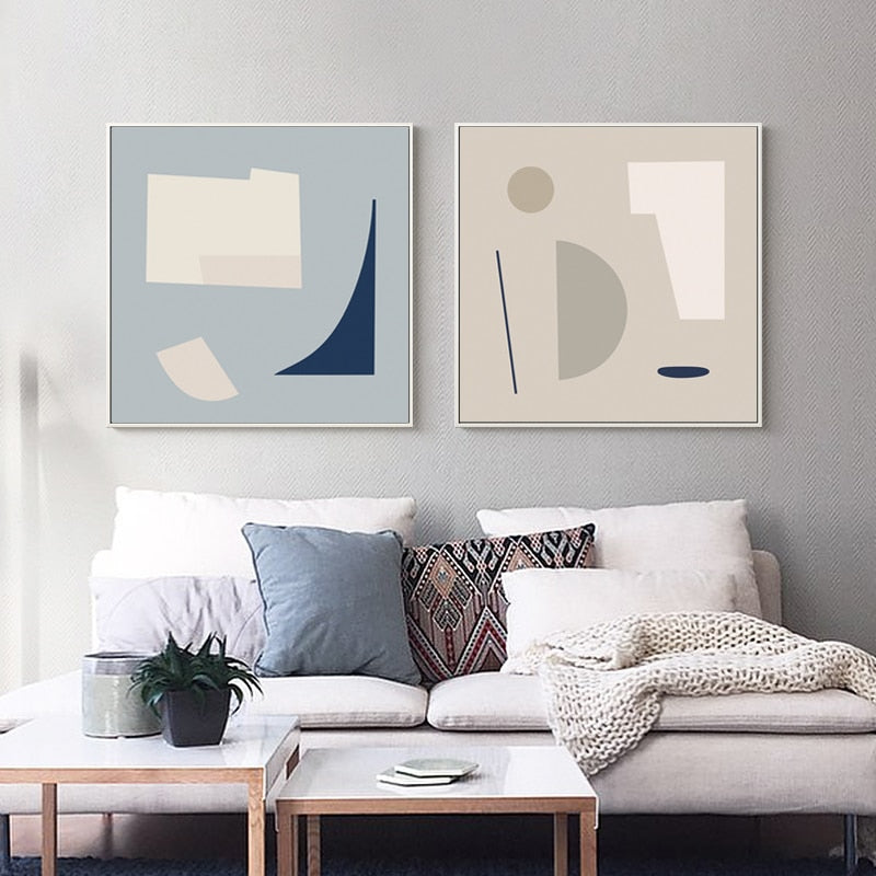Simple Minimalist Nordic Bedroom Art Warm Color Abstract Paintings Fine Art Canvas Prints For Modern Office Interior Living Room And Home Decor Best Bedroom Canvas Prints