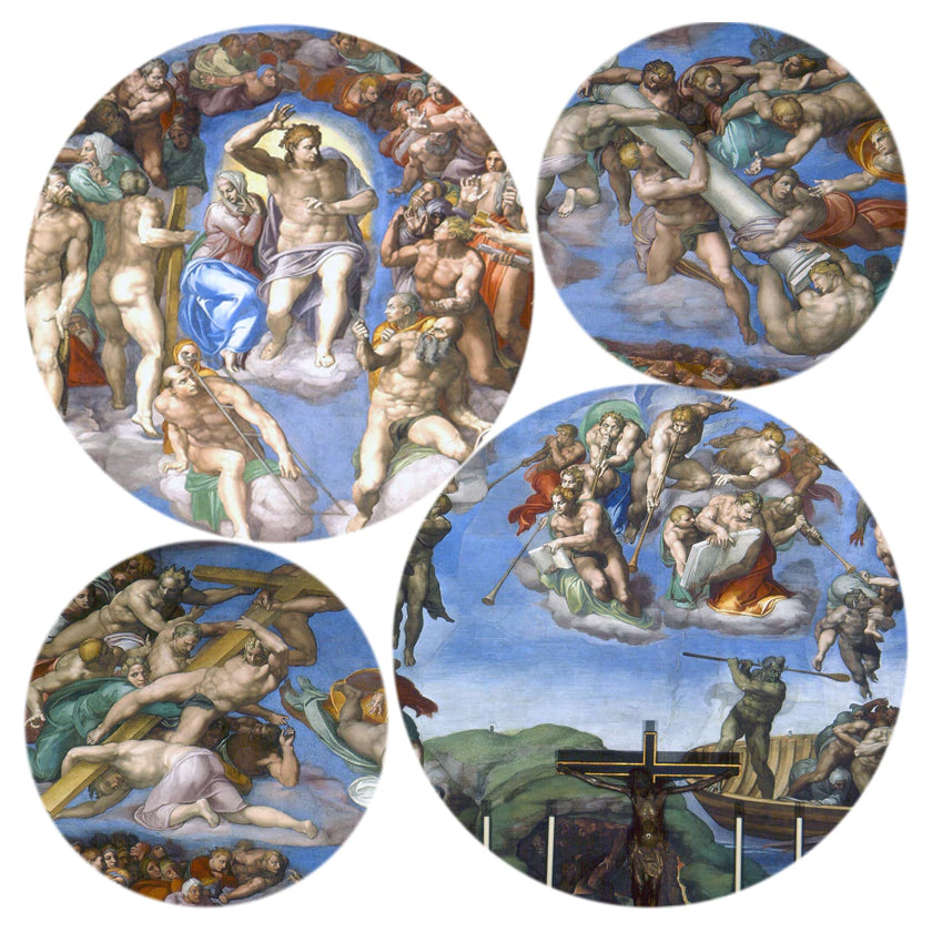 Sistine Chapel Ceiling Poster Famous Renaissance Painting by Michelangelo Posters Wall Art Canvas Prints for Modern Room Home Decor