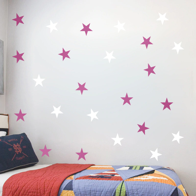Starry Wall Decals Removable Colorful PVC Star Stickers For Nursery Room Kids Play Room Classroom Little Stars Baby Nursery DIY Decor