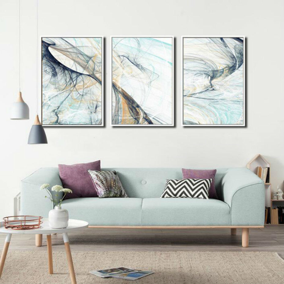 Sublime Abstract Wall Art Subtle Chaotic Color Fine Art Canvas Prints Pictures For Living Room Bedroom Paintings For Modern Interior Decor 3 Pcs Set