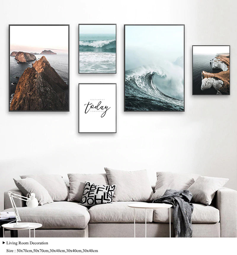 The Peace Of Nature. Rugged Coastal Wilderness Landscape Seascapes Fine Art Canvas Prints Scandinavian Style Modern Home Interior Decor