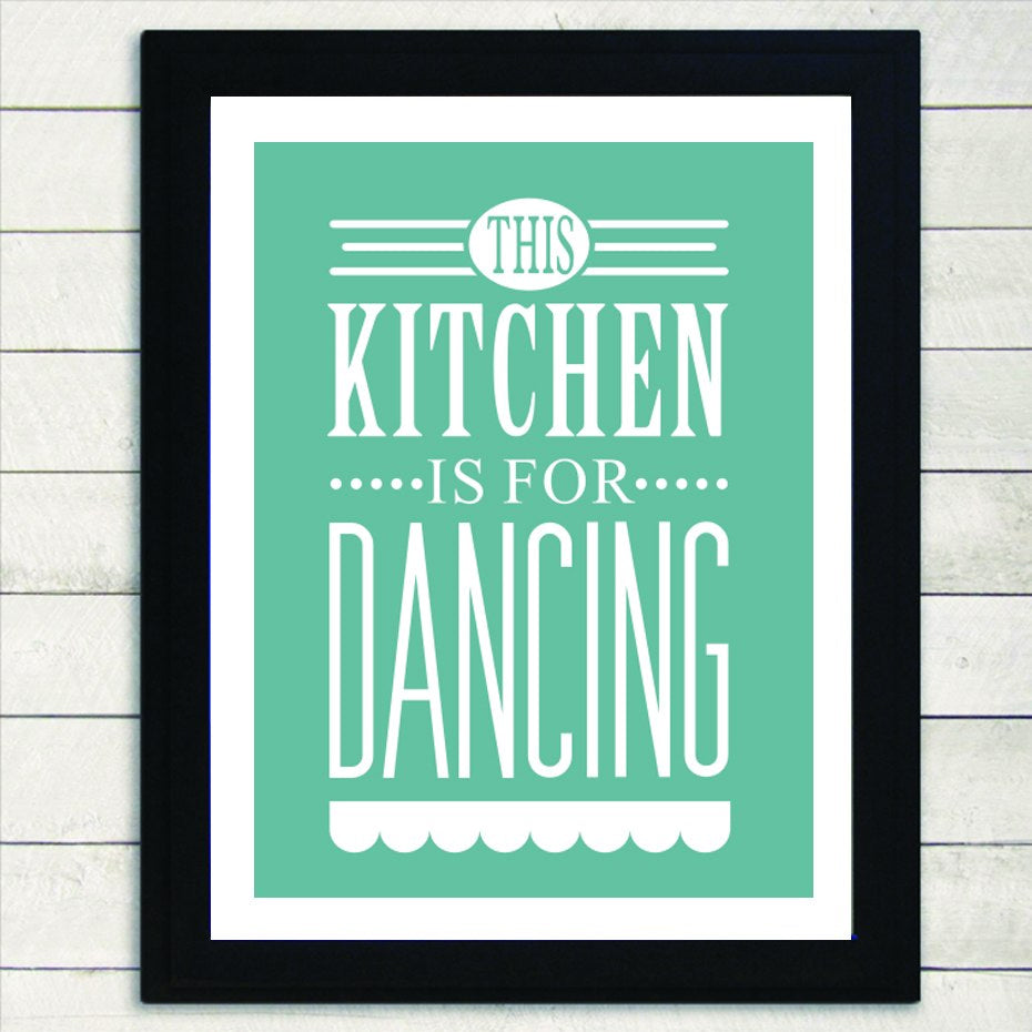 This Kitchen is For Dancing Canvas Pictures Modern Elegant Nordic Print Wall Art Posters Paintings for Kitchen and Home Decor